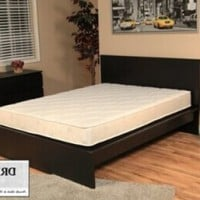 DreamFoam Bedding Ultimate Dreams Crazy Quilt with 7-Inch TriZone Mattress