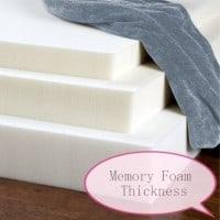 Memory Goam Mattress Thickness