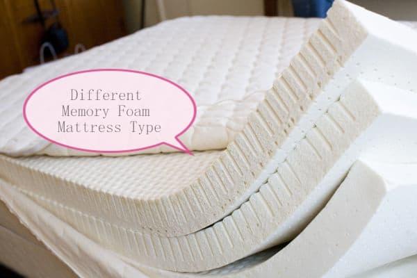 Diffe Types Of Memory Foam Mattress