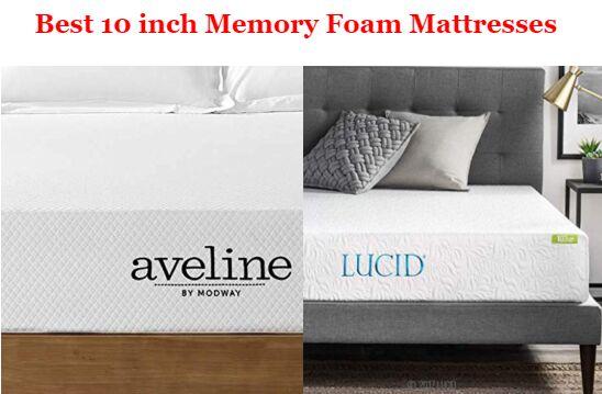 10 Inch Memory Foam Mattress Best Picks Amp Buyer S Guide