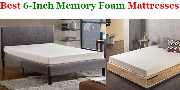 6 Inch Memory Foam Mattresses